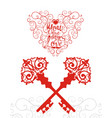 valentines day sale background with keys from your vector image