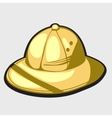 Yellow hat of african hunter vector image
