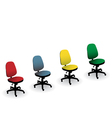 Office chairs vector image