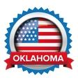 Oklahoma and USA flag badge vector image