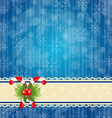 Christmas vintage wallpaper with sweet cane vector image vector image