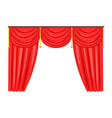 silk classical curtains for opera or theater decor vector image