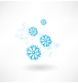 Snoeflakes grunge icon vector image vector image