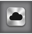 Cloud icon - metal app button vector image vector image