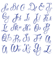 ABC - English alphabet - Handwritten calligraphic vector image