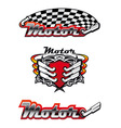 racing symbols and icons vector image vector image