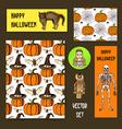 Sketch Halloween set vector image