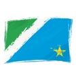 Grunge Mato Grosso do Sul flag vector image