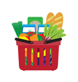 Basket with food vector image