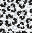 Black recycle signs seamless pattern geometric vector image