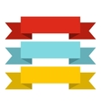 Color ribbons icon flat style vector image