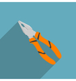 flat combination pliers vector image