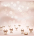 Luxury pearls background vector image