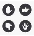 modern hand icons set vector image