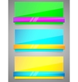 neon banners vector image