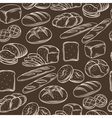 Seamless hand draw bread pattern vector image