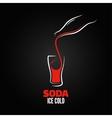soda bottle splash design menu background vector image
