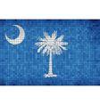 Abstract Mosaic flag of South Carolina vector image