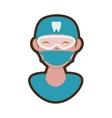 dentist professional character icon vector image