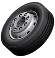 truck wheel isolated vector image
