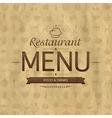 Vintage Restaurant Menu Design vector image vector image