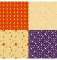 Set wrapping paper seamless background for holiday vector image