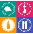 Set of 4 vaping design element signs vector image