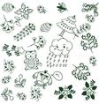 Simple flower doodle art vector image