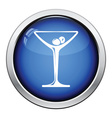 Cocktail glass icon vector image