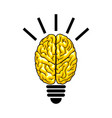 bulb as the brain vector image