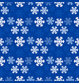 christmas snowflakes background in blue color vector image