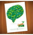 Nature rainbow leaves concept card leaf vector image