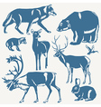 northern animals vector image