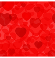 Seamless background pattern with hearts vector image vector image