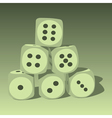 Object dice vector image