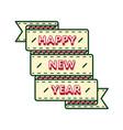 happy new year greeting emblem vector image