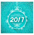 merry christmas and new year blue card background vector image vector image