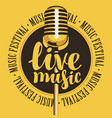 banner for festival live music with microphone vector image