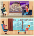 visit to psychiatrist flat banners vector image