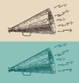 loudspeaker engraving style hand drawn vector image