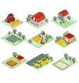 Detailed of a Isometric Farm vector image