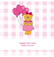 bear balloons vector image