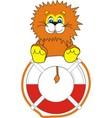 smiling little lion on life bu vector image