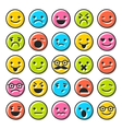 Set of emoticons flat characters icons vector image