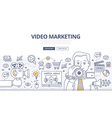 Video Marketing Doodle Concept vector image