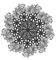 contour Mandala religious design element tattoo vector image
