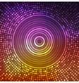 Shiny round fantasy mosaic colorful background vector image