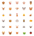 Animals icon set Part one vector image