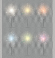 bengal lights set christmas sparkler isolated on vector image