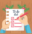 christmas to do list design vector image